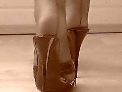les pieds nylon de n de orteils époque