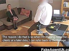 FakeAgentUK - Stocking clad posh MILF casting