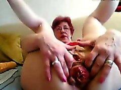 55 Jahre alt April dildoing auf Heimcomputer Webcam