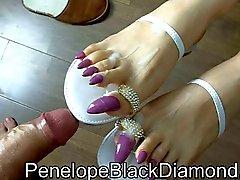 Penelope Black Diamond footjob