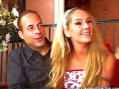 Husband watches while swinger wife screws