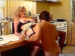 Sexy blonde mature slut still looks so hot. She has nice