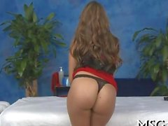 skimpy teen gets a nice massage and she loves it