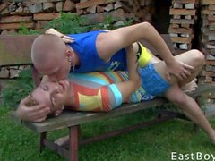 Horny Twinks Baisers et Sucer