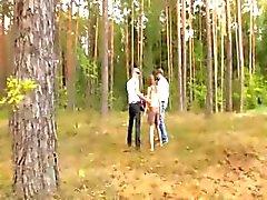 Ormanda Amatör fransız üçlü
