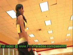 Independent Lovely Busty Brunette In The Gym