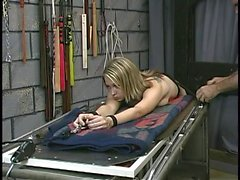 Sexy, submissive blonde gets her nipples tortured, then fucked by her dom