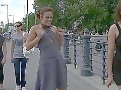 Lovely chick gets her axe wound thrashed in public