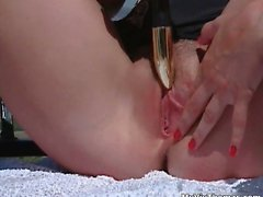 Hot blonde babe gets horny rubbing part3
