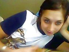 Seksikäs Venäjän tyttö leikkii ilmoittauduttava Cam