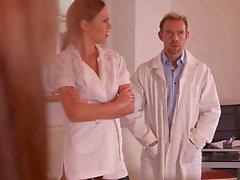 Hot nurse likes the doctor's rod
