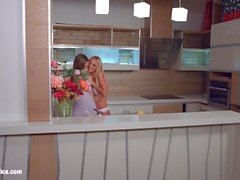 My kitchen love by Sapphic Erotica Kiara Lord and Suzie C lesbians