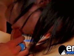 Andy Kay fungerar det Brandon Vitt med a dildon och sina kuk