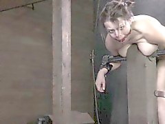 Tied up fetish bondage bdsm sub caned