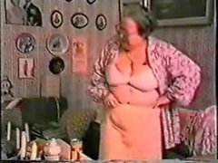 Very old fat granny having fun. Amateur older