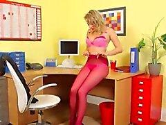 Calcinha rosa e Panyhose com provocação