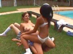 Double Trouble Lesbian Facesitting