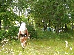 Blonde goth babe