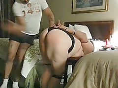 Nasty spanking big ass and big udders