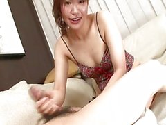 Japanese honey gives a handjob
