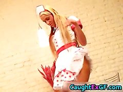 Cuty maid serving pussy exgf video part1