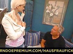HAUSFRAU FICKEN - Blonde German wife cheats on husband