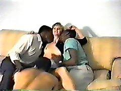Blonde with Three Black Guys
