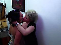 Old and young lesbians licking out each other