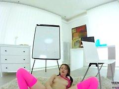 Pretty Teen Timea Bella VR solo porn movie