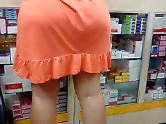 Candid мамочка Большие задницы - зрелая жопа вуайерист