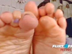 Brooke Foxx on Flirt4Free Fetish - Ebony Babe Latex and Foot Fetish