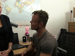 XXX Omas - Busty German granny gets fucked in the office