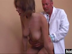 Stunning babe gets fucked by a doctor
