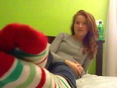 Patis feet in socks