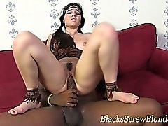 Hardcore interracial blowjob and fuck