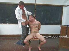 Nick keeps Zane after class to teach him bdsm