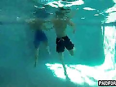 Straight amateur hunk sucking on a cock underwater
