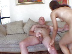 Young slut shagged by elder dick