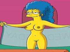 Tecknad film Porr Simpsons Spycam , kam