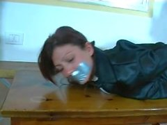 leather hogtied