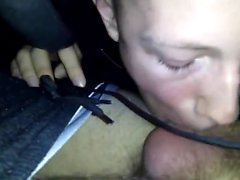 Horny straight emo twink dá blowjob