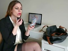 Secretary AA blowjob