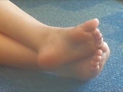 Candid Plump Feet