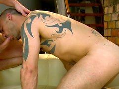 Tattoo gay flip flop with facial