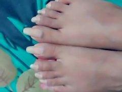 Gf long toes natural nails before fj
