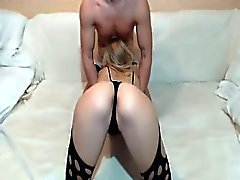 Cute GF Gets Ass Played With on Webcam