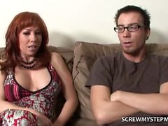 Scolded Teen Gropes Step Mom