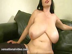 Big girl with big tits is playing with herself on camera and showing pussy
