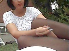 Pantyhose Wank Part 3 (with cumshot) H57004