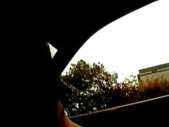 nude girl in car and people can see 2